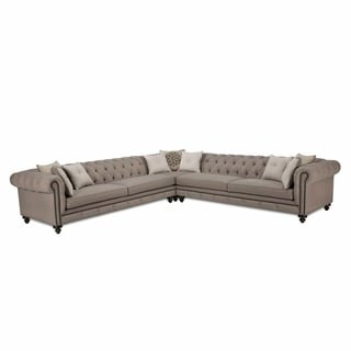 Tan Leather Sofa And Chaise Set Overstock Shopping Big