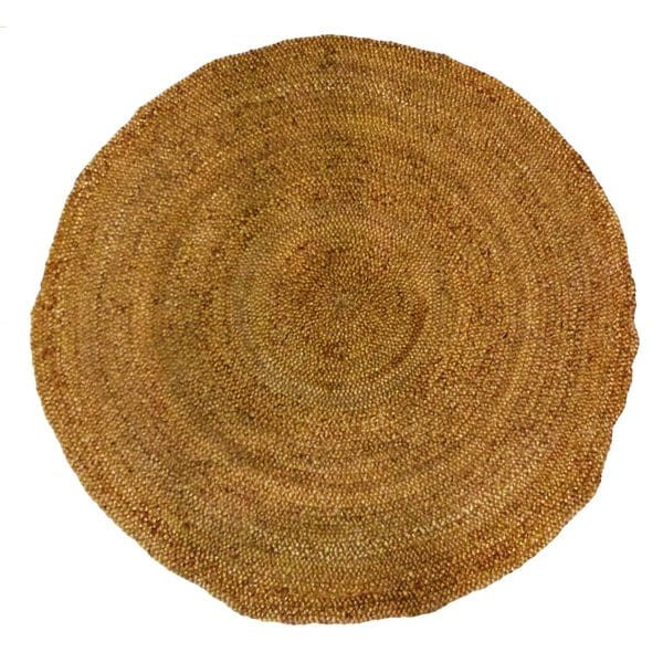 Celebration Jute 6 Foot Braided Hand Woven Round Rug