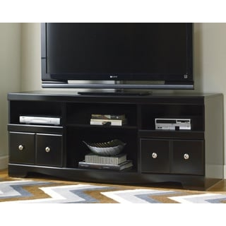 Black 70 Inch Wood Tv Stand With Sliding Doors 15010805