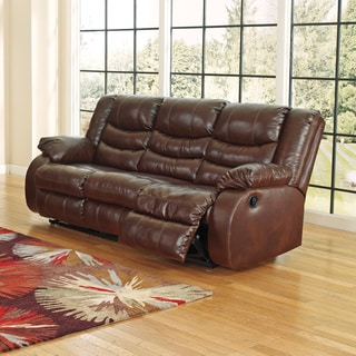 Furniture Of America Kender Brown Leather Reclining Sofa