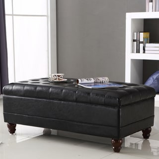 Christopher Knight Home Chatham Black Bonded Leather
