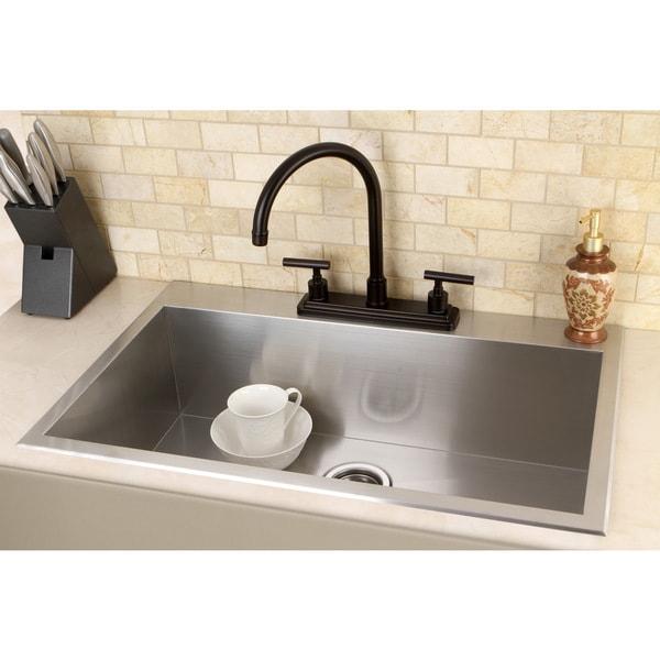 Topmount 31 5 Inch Single Bowl Stainless Steel Kitchen