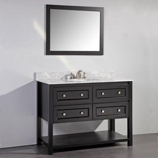 Marble Top 48-inch Single Sink Rustic Style Bathroom ...