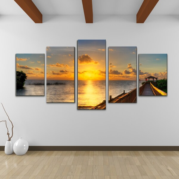 bruce bain 39 key 39 s sunrise 39 5 piece set canvas wall art 16323199 shopping the. Black Bedroom Furniture Sets. Home Design Ideas