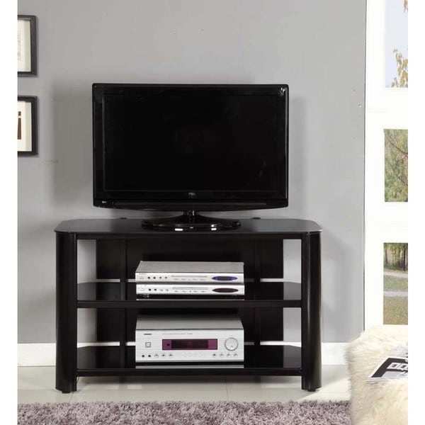innovex oxford 42 inch black tv stand center console home media new theater ebay. Black Bedroom Furniture Sets. Home Design Ideas