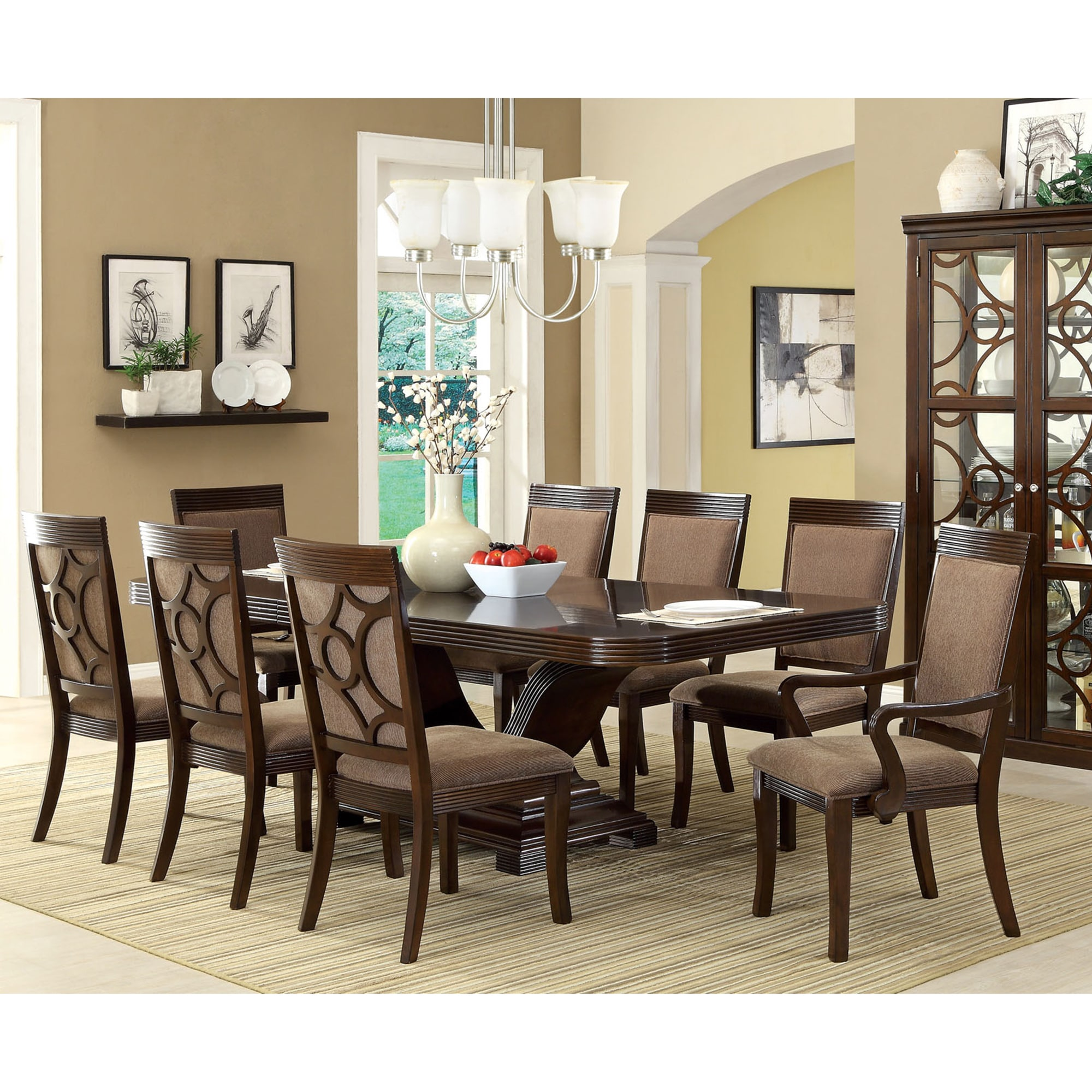 Furniture Of America Dubelle 7 Piece Formal Dining Set: Furniture Of America Woodburly 7-Piece Dining Set With