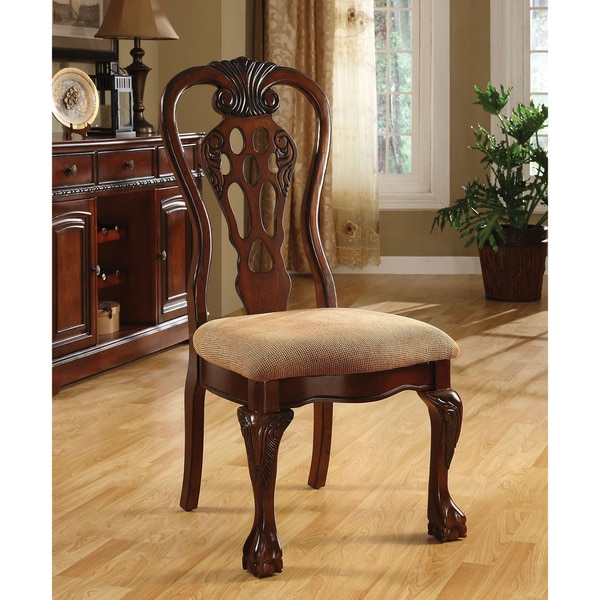 Cherry Dining Room Chairs: Furniture Of America Harper Cherry Dining Side Chair (Set