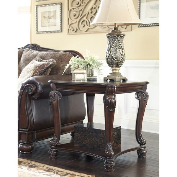Norcastle Sofa Table: Signature Designs By Ashley 'Norcastle' Square Dark Brown