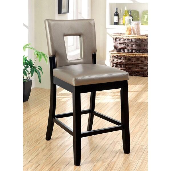 Furniture Of America Evantel Keyhole Leatherette Counter