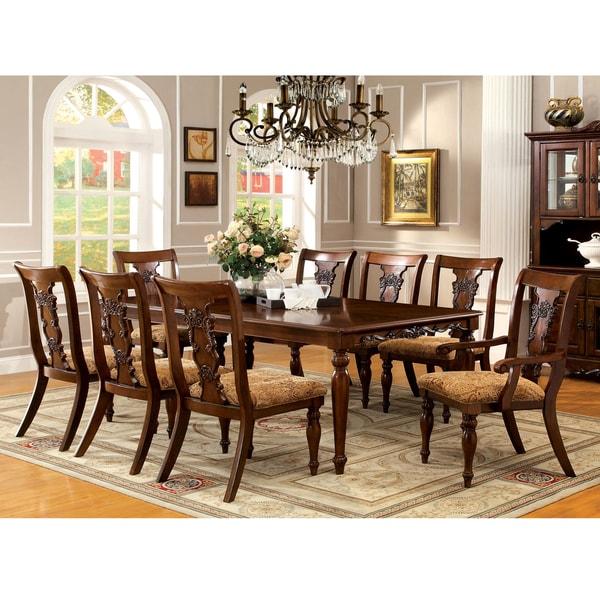 Napa 9 Piece Dark Cherry Finish Formal Dining Room Table: Furniture Of America Ella Formal 7-piece Dark Oak Dining