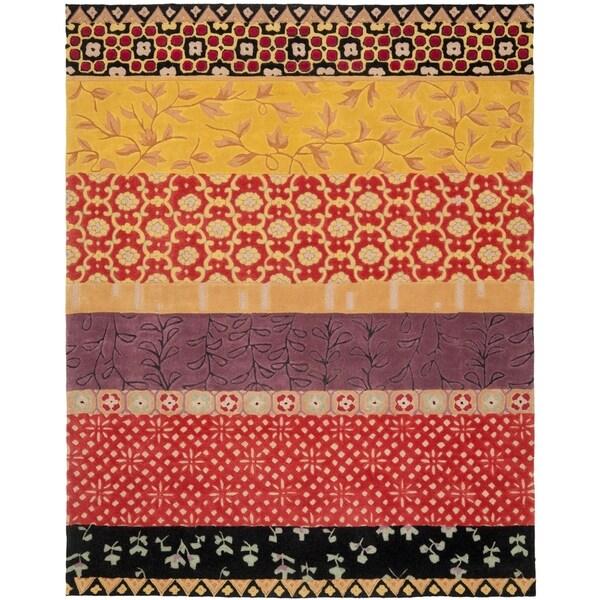 Safavieh Handmade Rodeo Drive Bohemian Collage Rust/ Gold Wool Rug - 8' x 10'