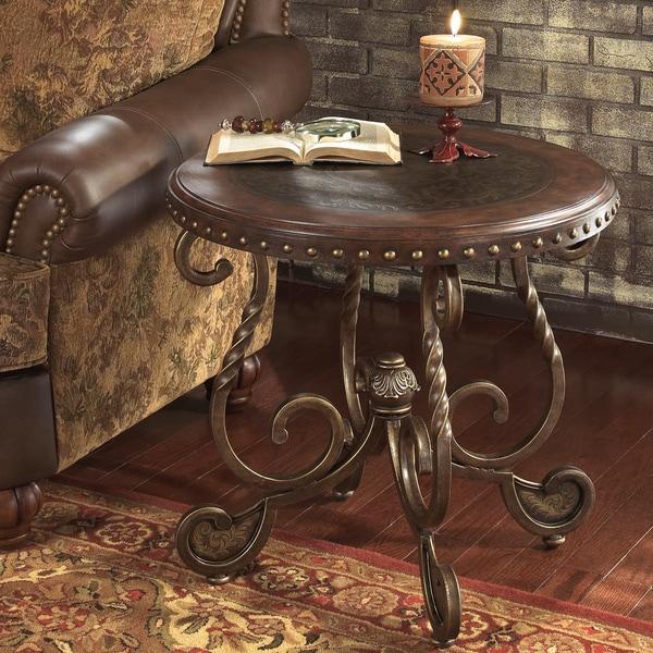 Ashley Brookfield Round Coffee Table In Dark Brown: Signature Designs By Ashley 'Rafferty' Round Dark Brown