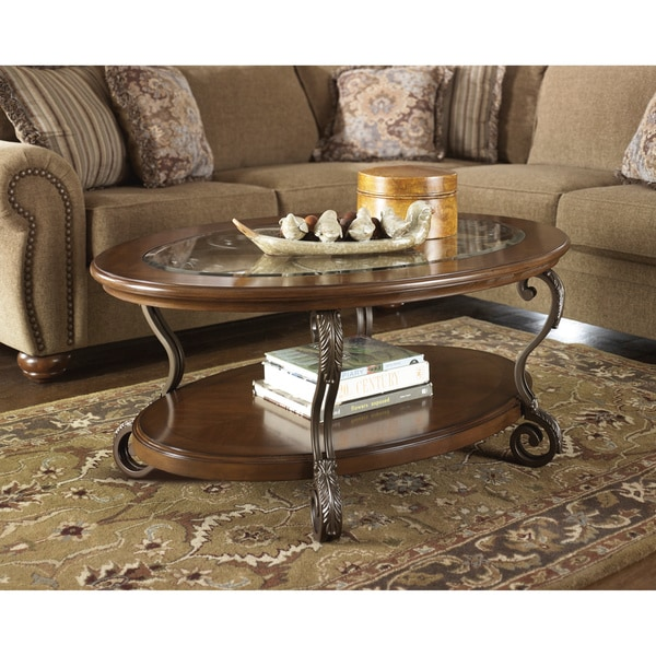 T517 0 Ashley Furniture Nestor: Signature Designs By Ashley 'Nestor' Oval Medium Brown