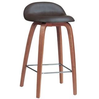 Solid Medium Oak Backless Saddle Swivel 24 Inch Counter