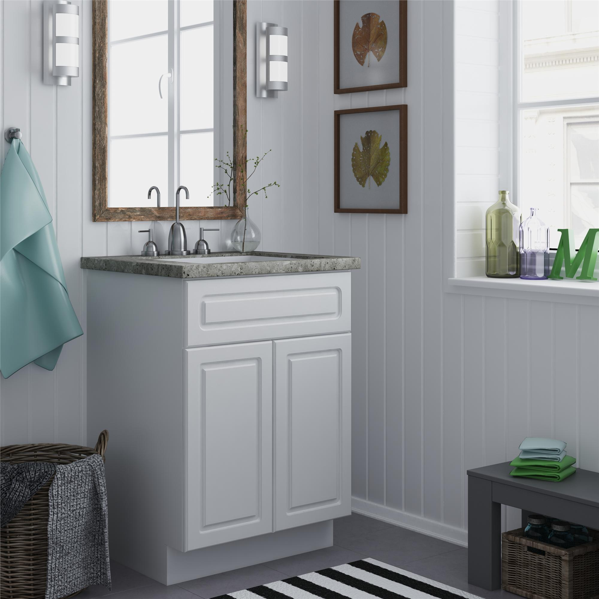Altra 24-inch White Bathroom Vanity Cabinet - Overstock ...