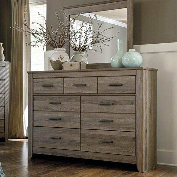 Signature Design By Ashley Zelen Grey Dresser 16343930 Overstock Com Shopping Great Deals