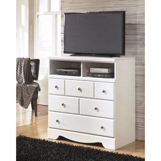 Signature Designs By Ashley Exquisite White 3 Drawer Chest