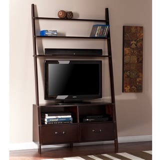 Leaning Ladder Book Shelf Entertainment Center Overstock
