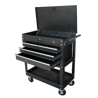 Excel 29 Inch 3 Tray Rolling Metal Tool Cart 16440278
