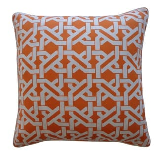Chili Pepper Orange Damask 20 Inch Pillow Cover 15139733