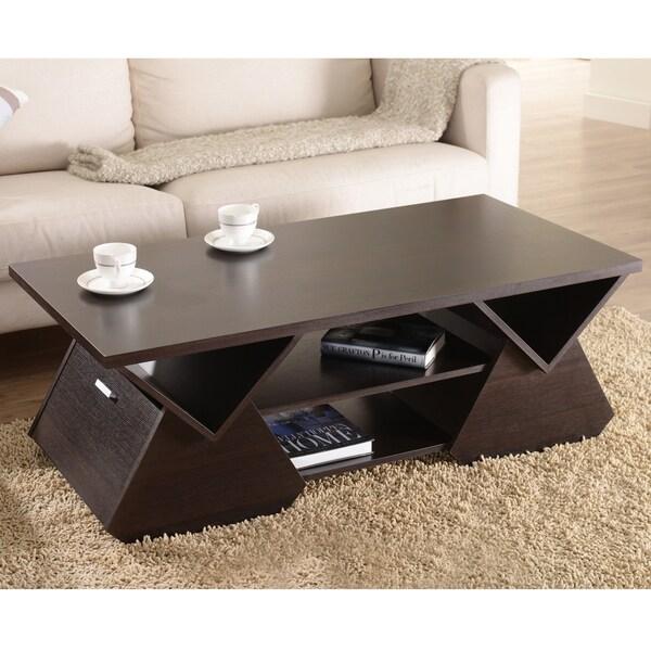 Furniture Of America Melika Espresso Geometric Coffee
