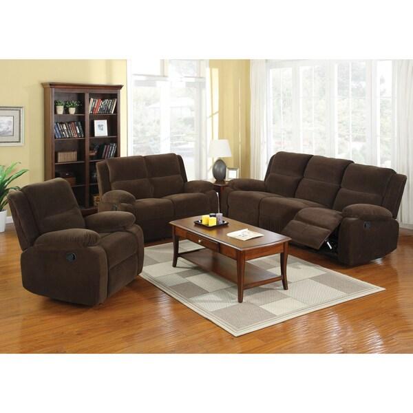 Deals On Sofa Sets: Furniture Of America Borrison 3-Piece Dark Brown