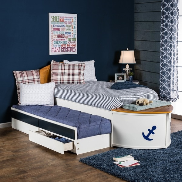 Furniture Of America Capitaine Boat Twin Bed With Trundle