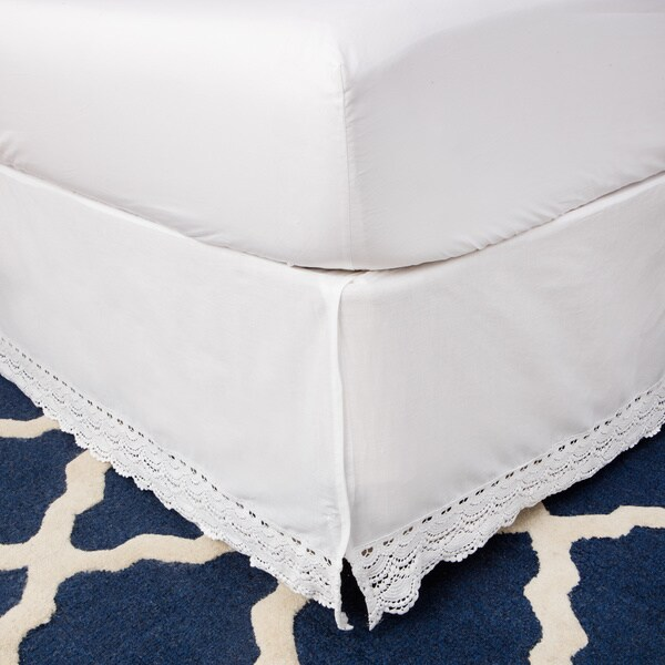 Greenland Home Fashions White Crochet Lace 18 Inch Drop