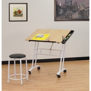 Studio Designs Studio Rolling Drafting Table with Stool