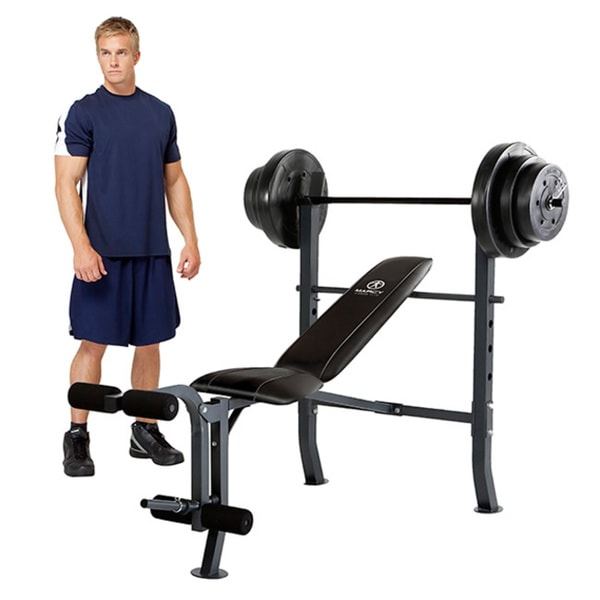 Marcy Diamond Bench With 100 Pound Weight Set 16356628