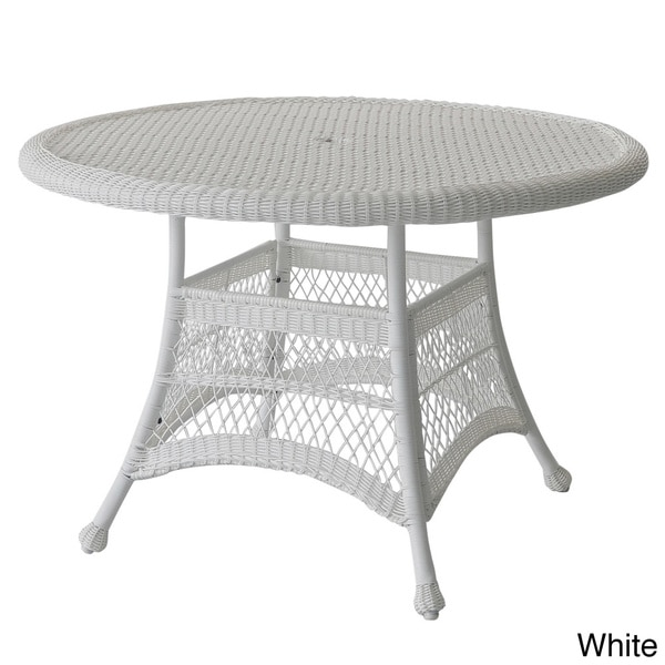 Round Resin Wicker Dining Table 16357926 Overstock Com