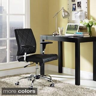 Lattice Diamond Tufted Vinyl Office Chair