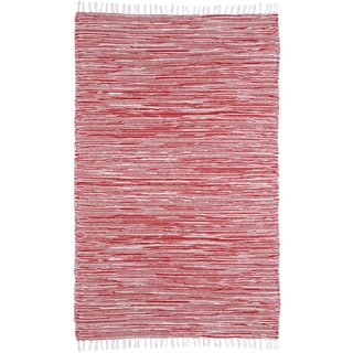 Pink Reversible Chenille Flat Weave Rug 8 X 10