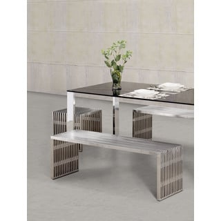 Novel Long Stainless Steel Coffee Table 14325091 Overstock Com
