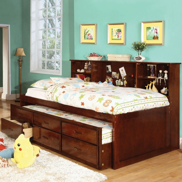 Furniture Of America Percius Cherry Captain Bed With