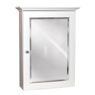 Small Linen White Wall Mount Medicine Cabinet Overstock