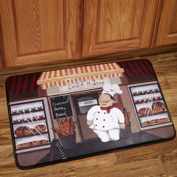 Memory Foam Happy Chef Design Kitchen Floor Mat 16366961