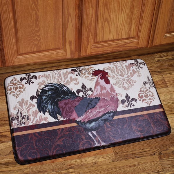 Memory Foam Rooster Design Kitchen Floor Mat 16367308