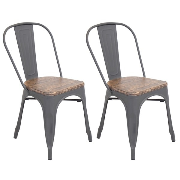 Oregon Modern Industrial Dining Chair Set Of 2