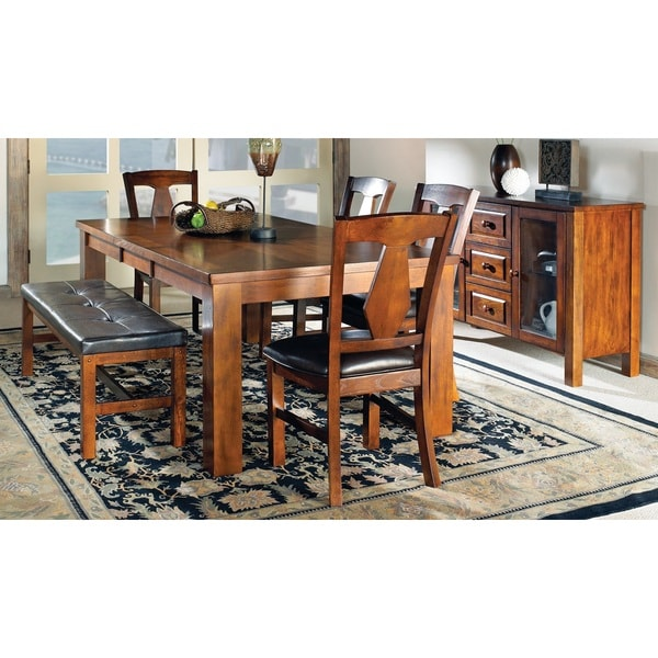 Tribecca Home Acton Warm Merlot X Back Casual Dining Side: Greyson Living Lansing Dining Sets