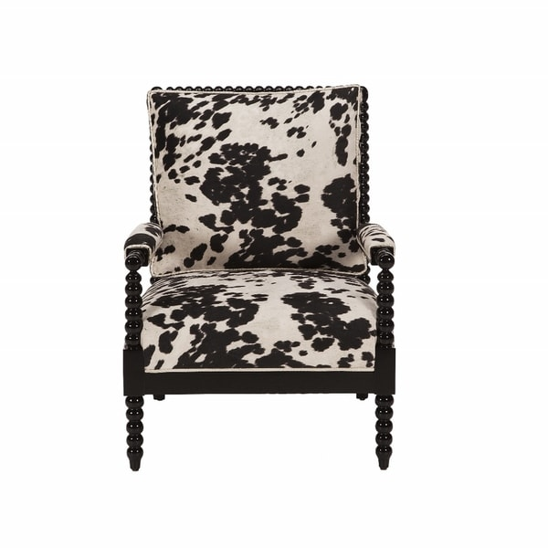 Jar Designs Paloma Black Faux Cow Print Chair 16371182