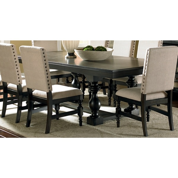 Loraine Antique Charcoal Trestle Dining Table