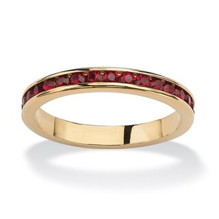 14k Goldplated Birthstone Stackable Eternity Band