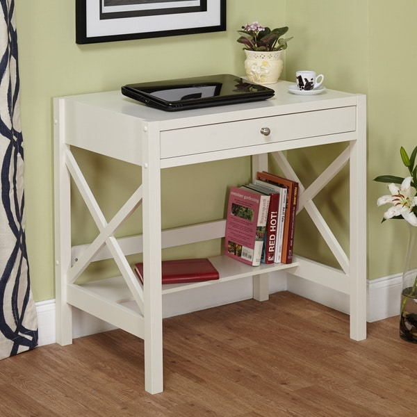 Simple Living Antique White X Desk 16371798 Overstock