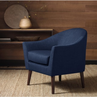 Grayson Navy Accent Chair Overstock Shopping Great