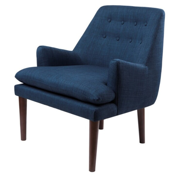 Taylor Navy Tufted Back Accent Chair