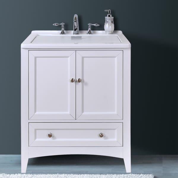 Manhattan White 30 50 Inch All In One Laundry Vanity Sink