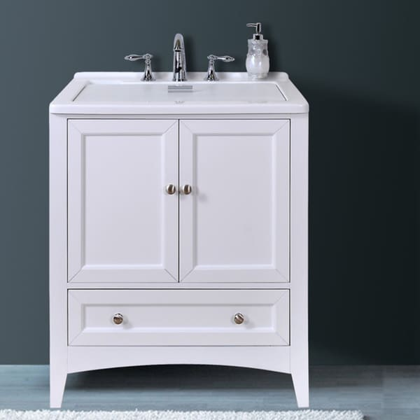 Manhattan White 30 5 Inch All In One Laundry Single Vanity