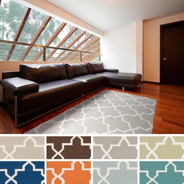 Hand-Woven Carlisle Moroccan Tile Reversible Flatweave