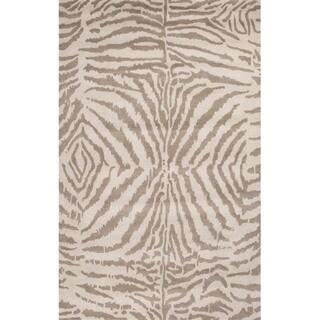 Hand Tufted Zebra Brown Wool Rug 8 X 10 6 11448033